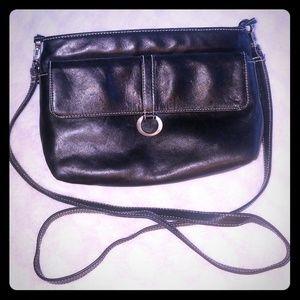 Vintage Black Perlina leather crossbody purse